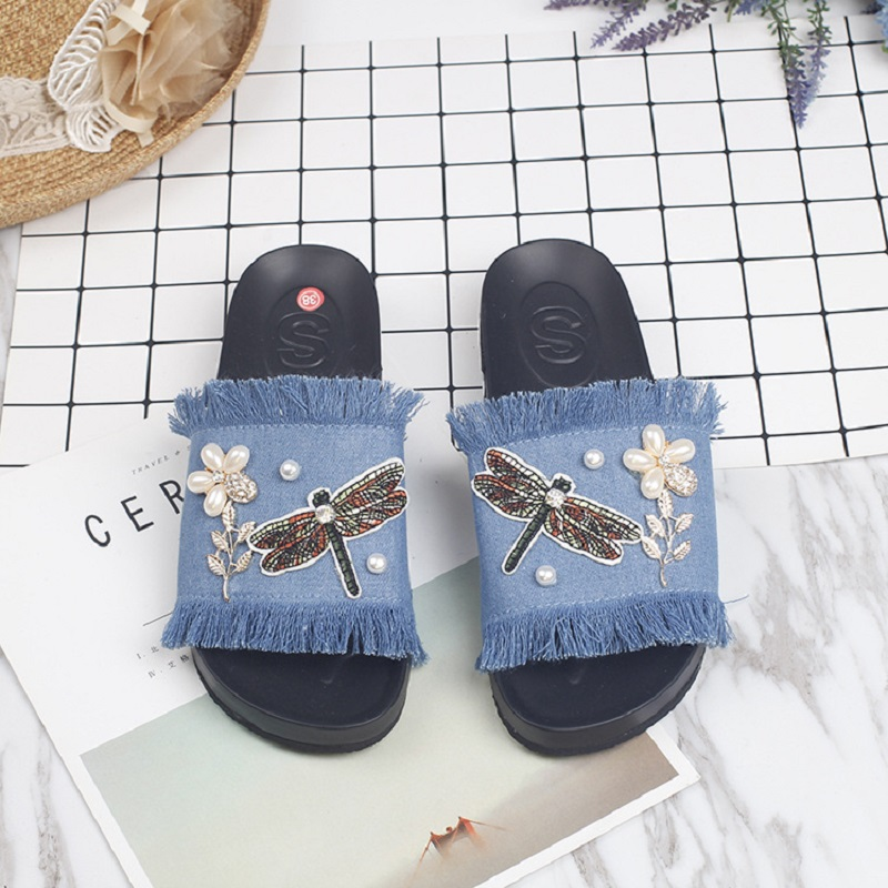 VANLED Steps-In Wedges Fringe Flower Woman Summer Simple Sandals Shoes Women Platform Fashion Hot Winter Cool Sweet Ladies Shoes phyanic 2017 gladiator sandals gold silver shoes woman summer platform wedges glitters creepers casual women shoes phy3323