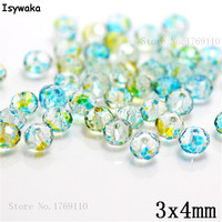 Isywaka 3X4mm 30,000pcs Rondelle Austria faceted Crystal Glass Beads Loose Spacer Round Beads Jewelry Making NO.62
