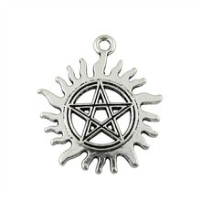 WYSIWYG 3pcs 30x26mm Sun Star Pendants Sun And Star Charm Star And Sun Charm Vintage DIY Accessories For Jewelry Making