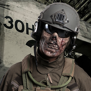 Image 1 - Horror Zombie Half Face Resin Mask For Halloween Masquerade Cosplay 4 Colors Outdoor CS Tactical Protective Mask