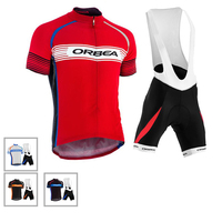 Orbea Claassic Cycling Jersey Men Set With Bib Summer Quick Dry Breathable Bike Clothing Suit Soft