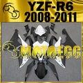 Motoegg Injection Fairings For YZF-R6 YZF R6 2008-2011 White Black Y68M19 + Tank