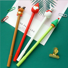 4pcs/lot Creative Christmas modeling student gel pen 0.5mm Gel Ink pen black pen student stationery office supplies Neutral pen 4pcs lot office supplies hearts pencils pen colored pen gel ink pen multi color signature pen painting supplies student specific