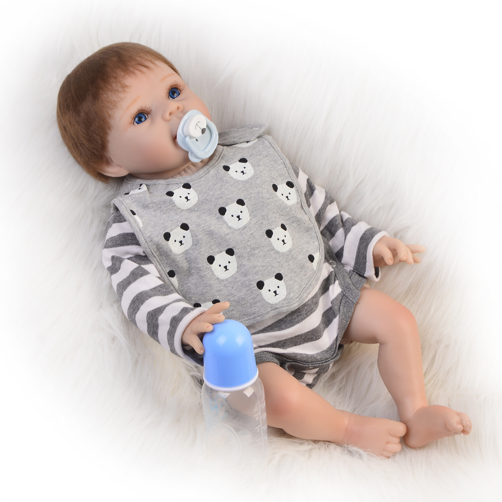 Realista Reborn Dolls Babies 22 Silicone Vinyl Cute Boy Gifts Cloth Body Newborn Doll Fashion Baby Born 55 cm Children Toys