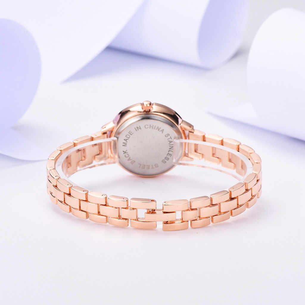 2019 reloj de moda para mujer, reloj romántico, Correa Simple de aleación, reloj de pulsera para mujer