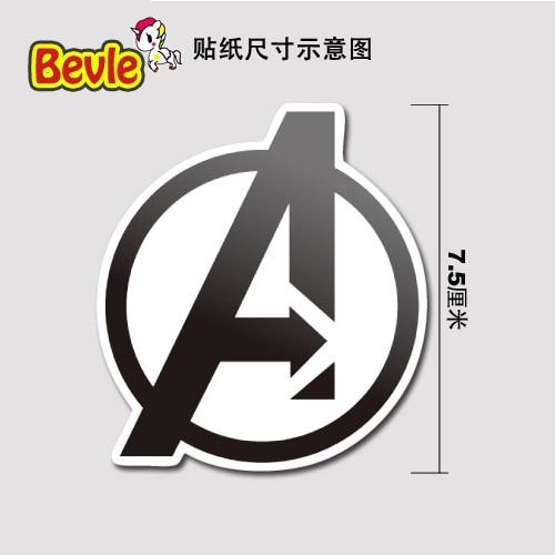 Bild von Bevle 9981 Super Heroes Avenger Logo Fashion Stickers Bomb Geezer Waterproof 3M Sticker Fashion Skateboard Car Graffiti
