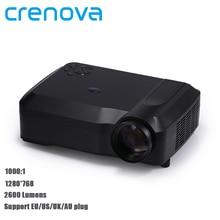 Crenova XPE650 2800 Lúmenes 120 Pulgadas Pantalla Proyector de la Ayuda 1080 P HDMI VGA AV USB SD TV