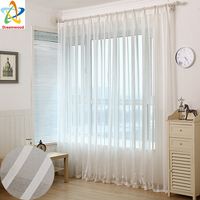 Cheap Solid Colors Tulle Window Curtains For Living Room Sheer Bedroom Rustic Balcony Yarn