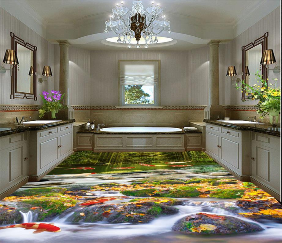 Us 48 99 Tapete Moderne Benutzerdefinierte 3d Bodenbelag Wandbilder Für Bad Fliesen Natur Landschaft Bodenbelag Selbstklebende Wasserdichte 3d Pvc