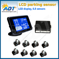 New Dual core Back And Front View Reversing Sensor Sytsem Car Parking Sensor System Kit With 8 Sensors Automatic Startup System