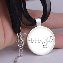 2016 Leather Necklace Handmade Pendant Chemistry Jewelry Nicotine Molecule healthy lifestyle 2color DIY Gift for women YLQ0112