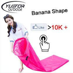 Banana Shape Air Sofa Bed Lounger for music party Hangout fast folding sleeping inflatable lazy bag wholesale
