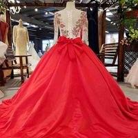 Nuovo Rosso Senza Spalline Una Linea Principessa Prom Abiti Da Sera In Pizzo Corpetto A Vita Alta Backless Su ordine Lunghi Prom Dresses