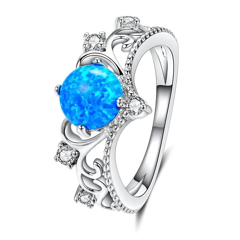 2018 Новинка; модный стиль элегантный сердце вырезать синий кристалл кольцо модные свадебные украшения заполнены Обручение Обещание Кольца