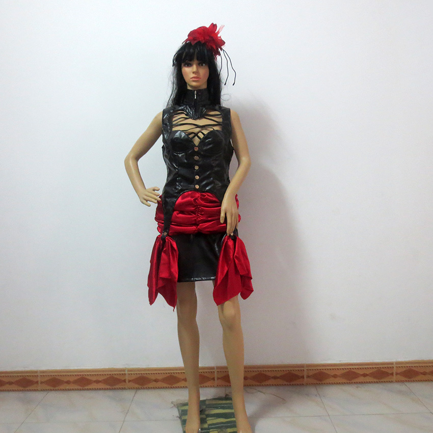 Black Butler Circus Beast Cosplay Costume Halloween Christmas Uniform Outfit Top+Skirt+Headdress  Custom Made Any Size