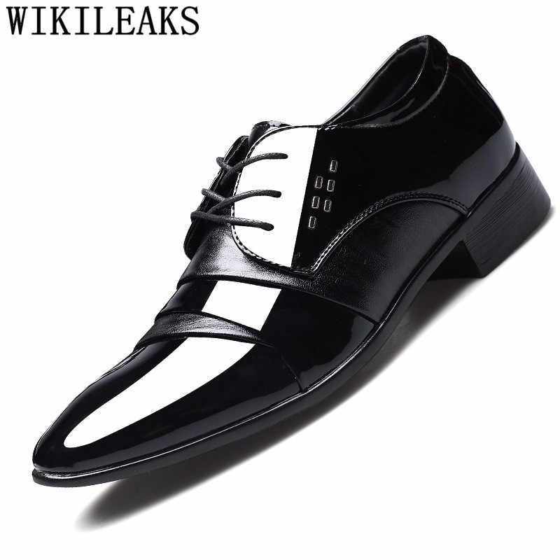 الايطالية الفاخرة أحذية مصممين رجل اللباس أحذية جلدية مكتب أنيقة الرجال أكسفورد أحذية calzado هومبر sapato الاجتماعية masculino