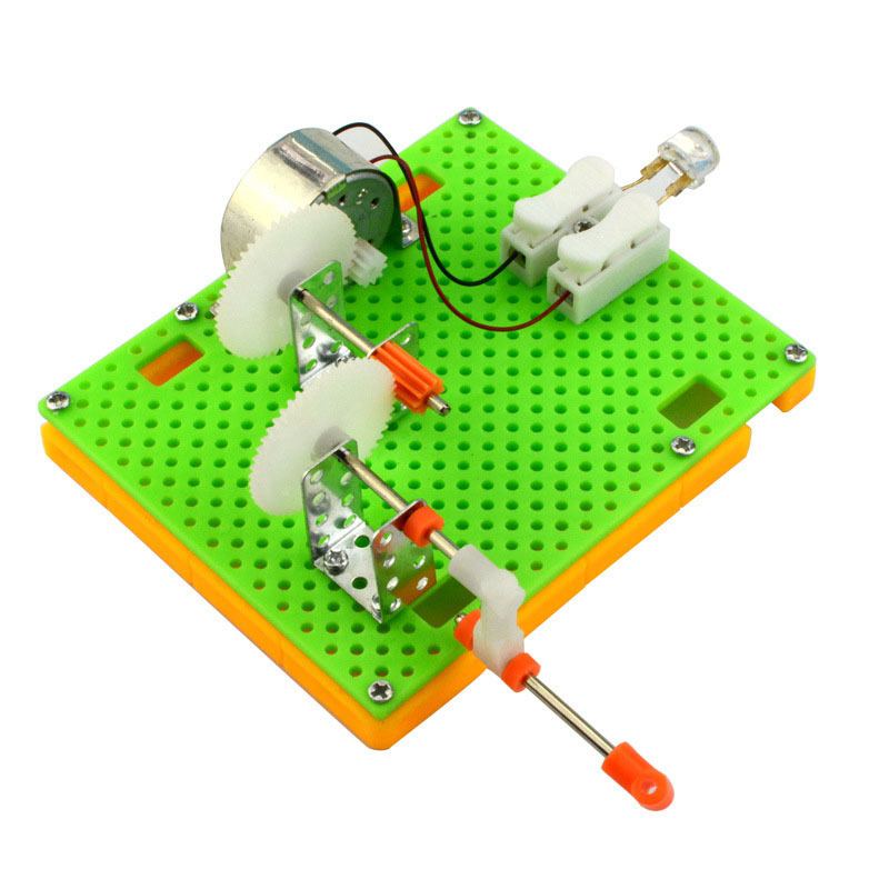 Creative DIY Science Gizmo Hand Crank Generator Kids Puzzle Assembled Kits Simple Physics Experiment Teaching Resources