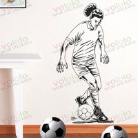 Free shipping Wall Stickers Wholesale and retail Wall decor PVC material decals wallpaper football World Cup Z-184