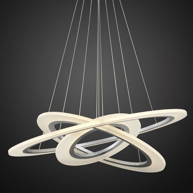 Modern Ring circles led pendant lights for dining living room acrylic cerchio anello lampadario lighting lamp lamparas modernas