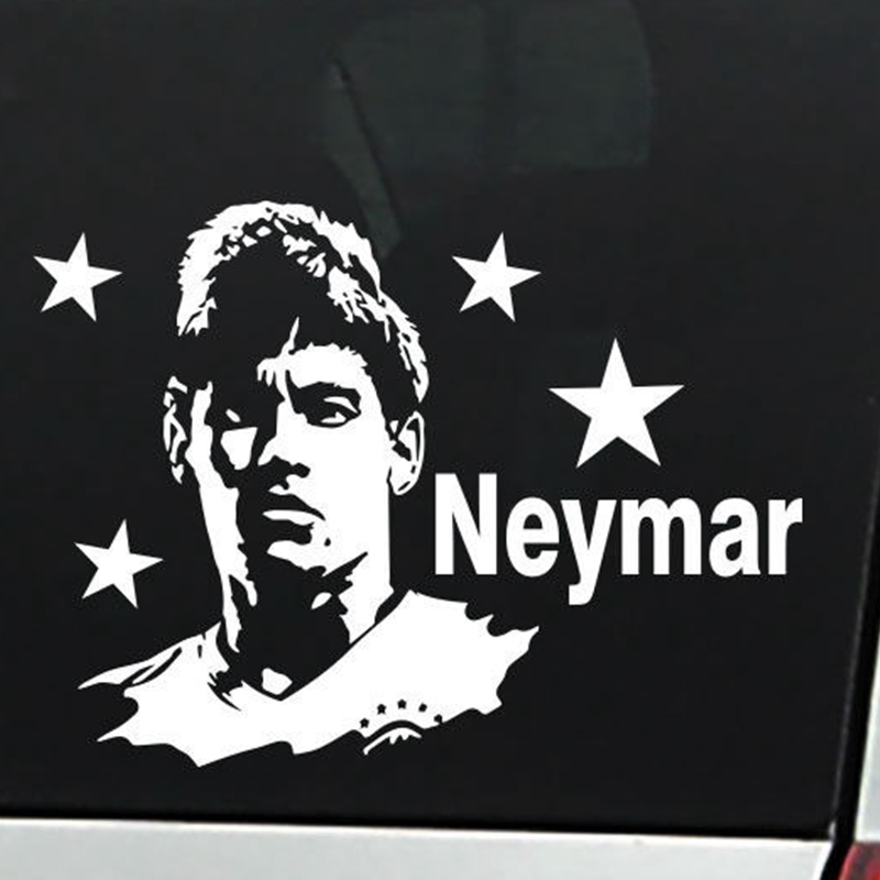 Neymar Football Player Sticker Sports Soccer Car Decal Helmets Kids Room Posters Vinyl Wall Decals Football Sticker