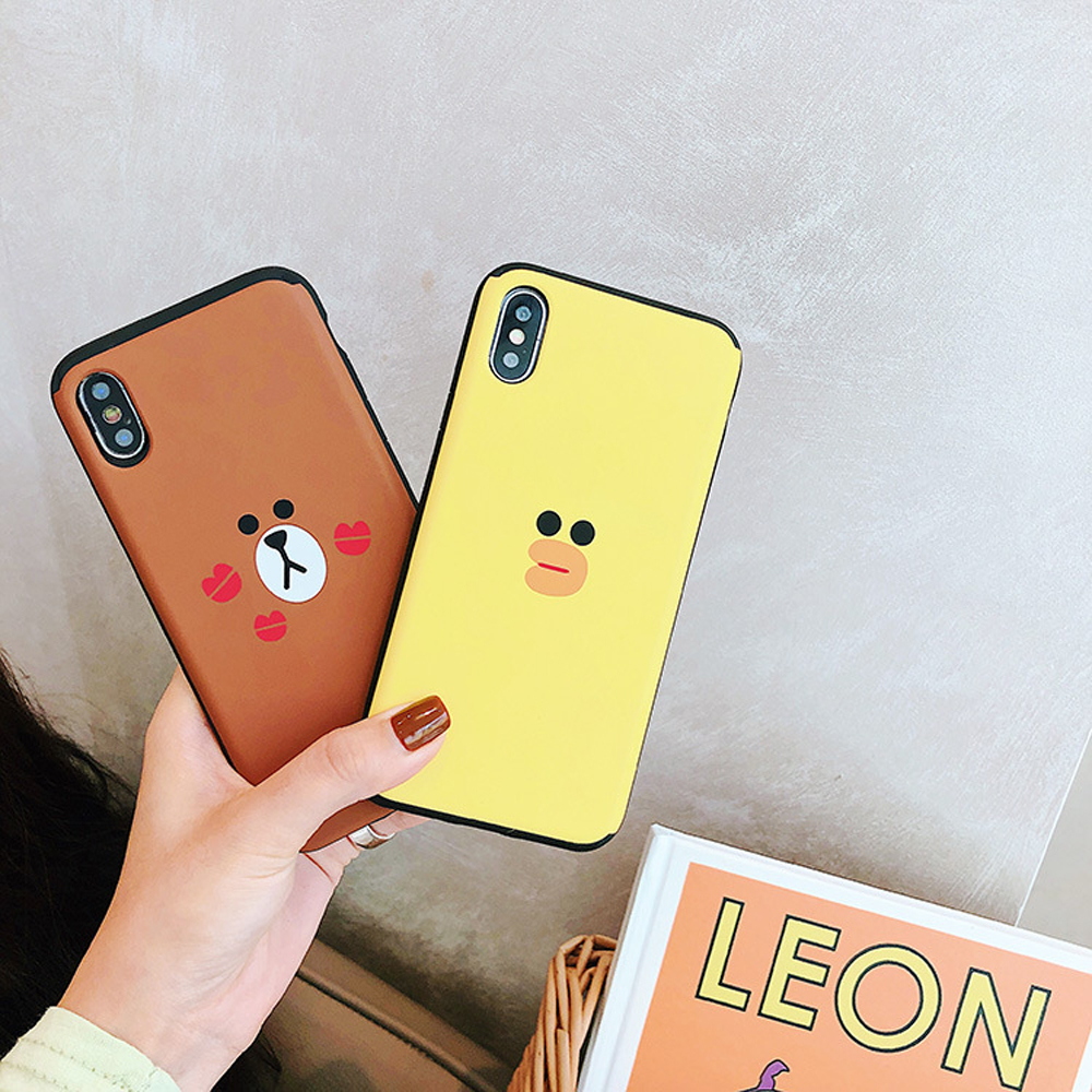 Slide-Phone-Cases-For-iPhone-6-6s-Plus-7-8-X-Xs-Brown-Bear-Make-Up-Mirror-Card-Slot-Silicone-Shockproof-Cute-Cartoon-Covers-SJ15- (3)