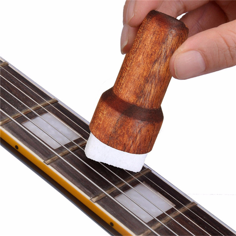 Zebra Wood Brown Guitar Bass String Cleaner Instruments Body Cleaning Tool For Stringed Musical Instruments Parts Accessories