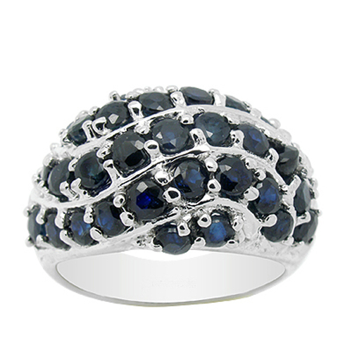2017 Qi Xuan_Dark Blue Stone Elegant Ring_Fashion Ring_S925 Solid Silver Fashion Dark Blue Rings_Manufacturer Directly Sales