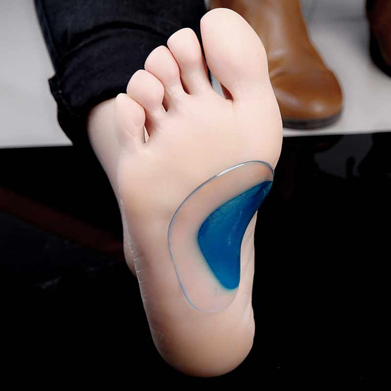 1Pair Foot Massager Arch Support Ortopædiske Silicone Insoles Flatfoot Correction Sko Gel Pads Insoles Inserts Pude Pads