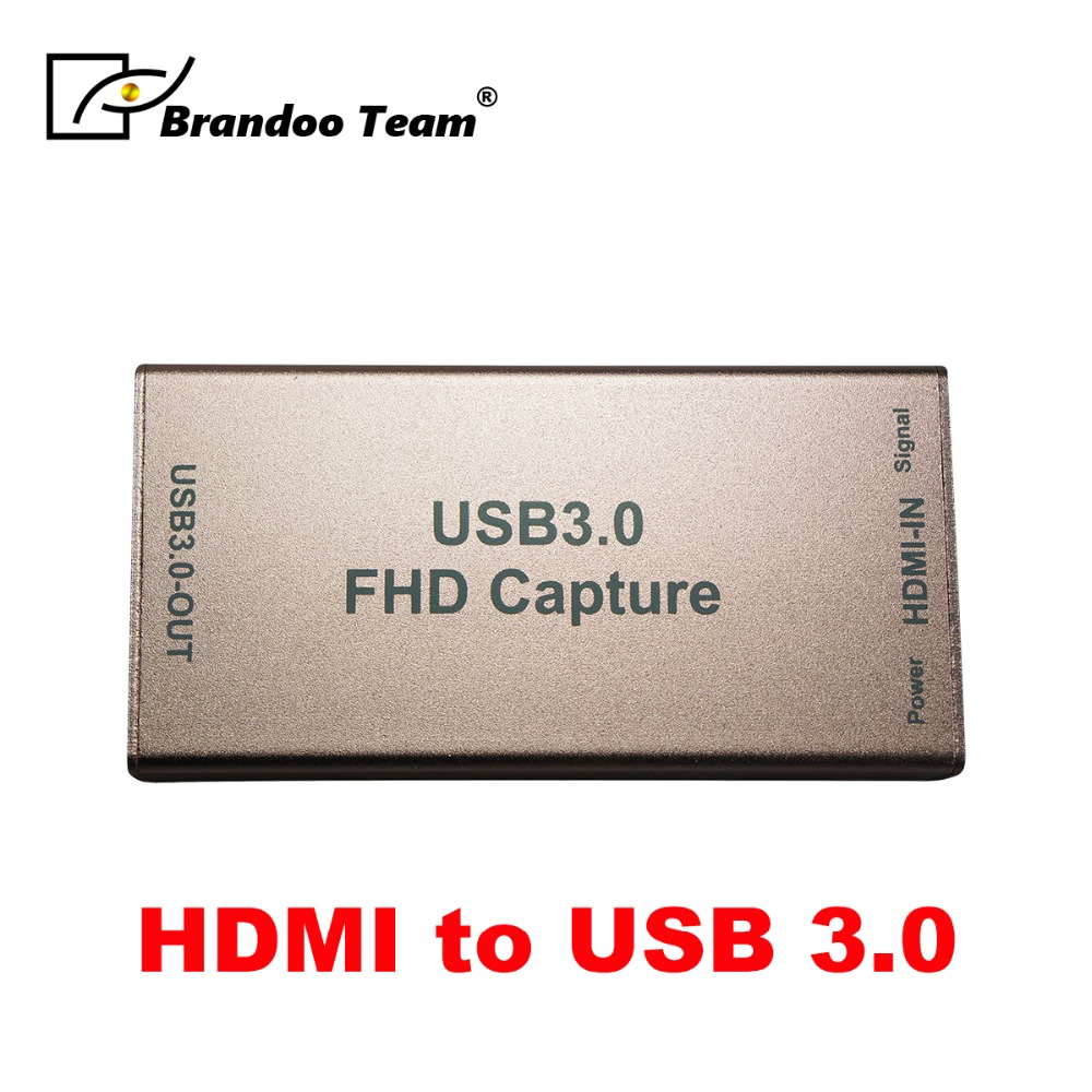 BRANDOO 1080P 60FPS HDMI To USB3.0 Live Streaming Broadcast Game Video Capture With audio output for PS3 PS4 TV Box Game BoxBRANDOO 1080P 60FPS HDMI To USB3.0 Live Streaming Broadcast Game Video Capture With audio output for PS3 PS4 TV Box Game Box