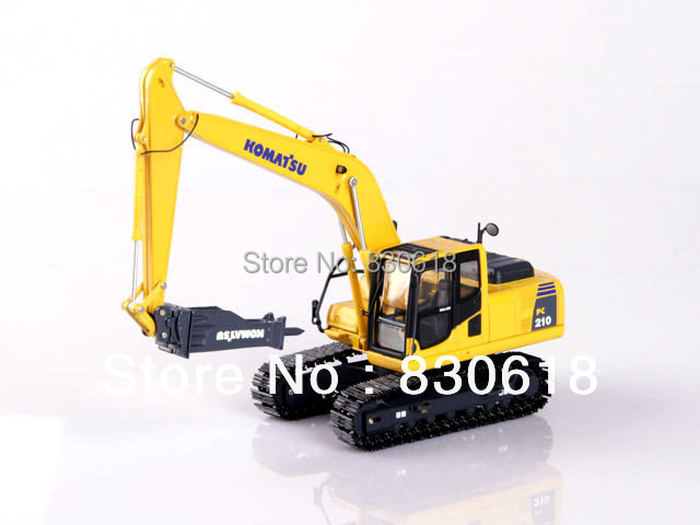 1/50 Universal Hobbies Komatsu PC210 Tractor w/ Hammer Drill Construction vehicles toy куплю запчастей б у к komatsu