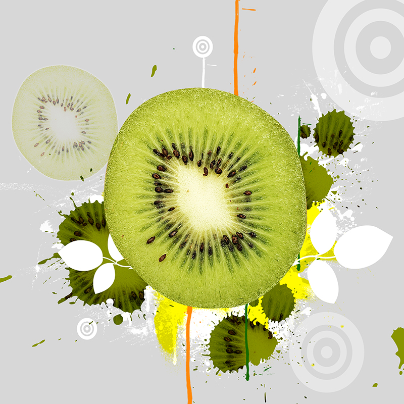 3 PCS Modern wall art Print HD fruits Printing Kiwi Apple and Orange ...