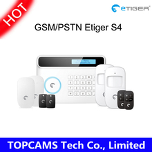 433Mhz Etiger S4 Wireless GSM/PSTN RFID Alarm System Home Security Protection Alarm System support ten language
