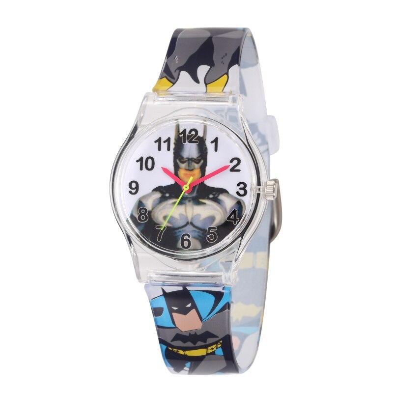 100% Wahr Nette Cartoon Batman Kinder Uhr Transparent Silikon Kinder Uhren Für Jungen Mädchen Quarz Armbanduhr Uhr Relogio Infantil Neue