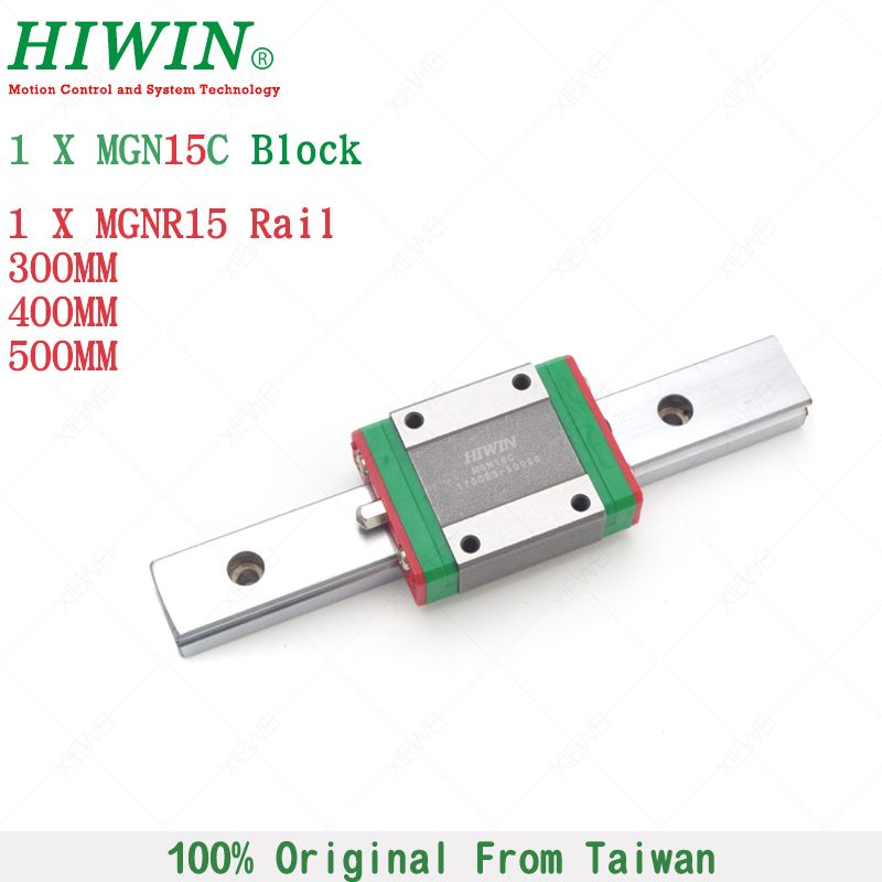 HIWIN MGN15C mini slide block with 300mm  400mm 500mm MGNR15 linear guide rail 15 mm for 3d printer High efficiency CNC partsHIWIN MGN15C mini slide block with 300mm  400mm 500mm MGNR15 linear guide rail 15 mm for 3d printer High efficiency CNC parts