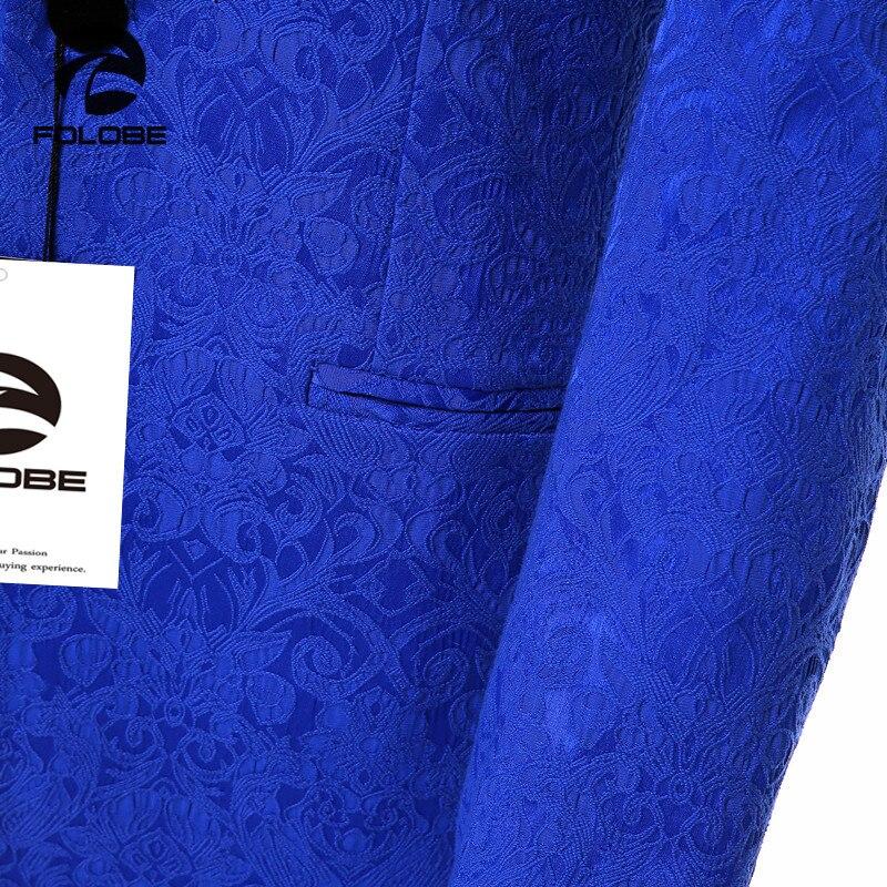 Chaqueta para hombre de marca nueva, chaqueta de traje azul real ajustada, estilo inglés, abrigo terno masculino, Blazer de talla grande M19 - 3