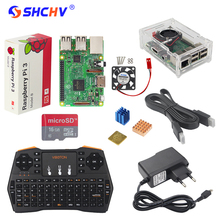 UK RS Raspberry Pi 3 Kit + Russian Spanish English Mini Keyboard + 16G SD Card + 2.5A Power Supply+ Case + Heat Sink+HDMI Cable