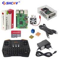 UK RS Raspberry Pi 3 Kit + Russisch Spaans Engels Mini Toetsenbord + 16G Sd-kaart + 2.5A Voeding + Case + Koellichaam + HDMI kabel