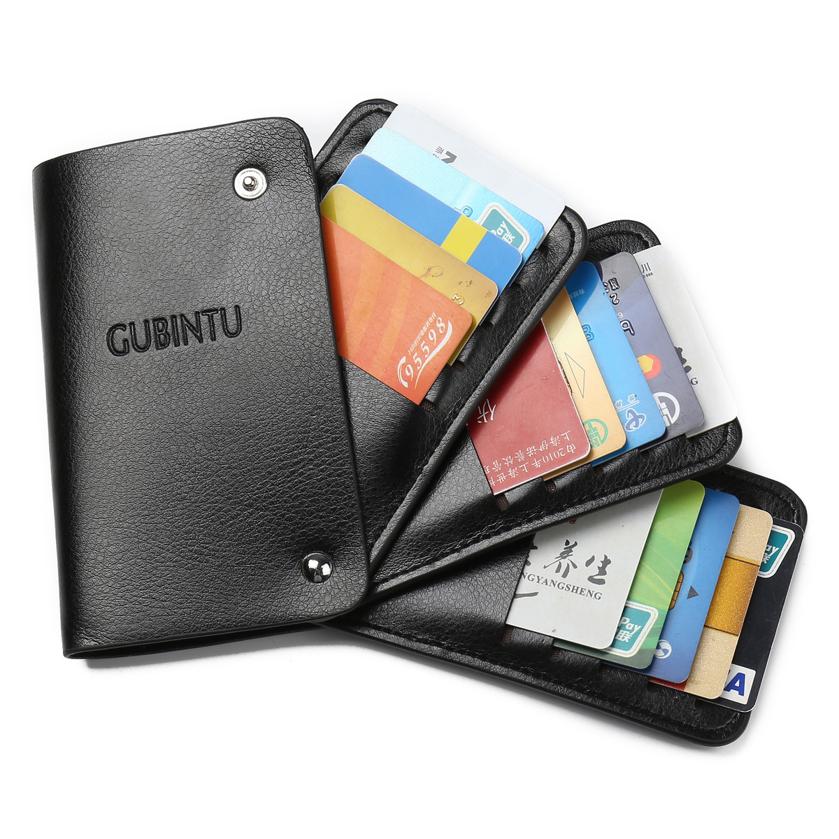 2018 New Men Women PU Leather Plastic Card Holder Bank ID Multi Card Case Rotating Business Card Men Wallets Purse