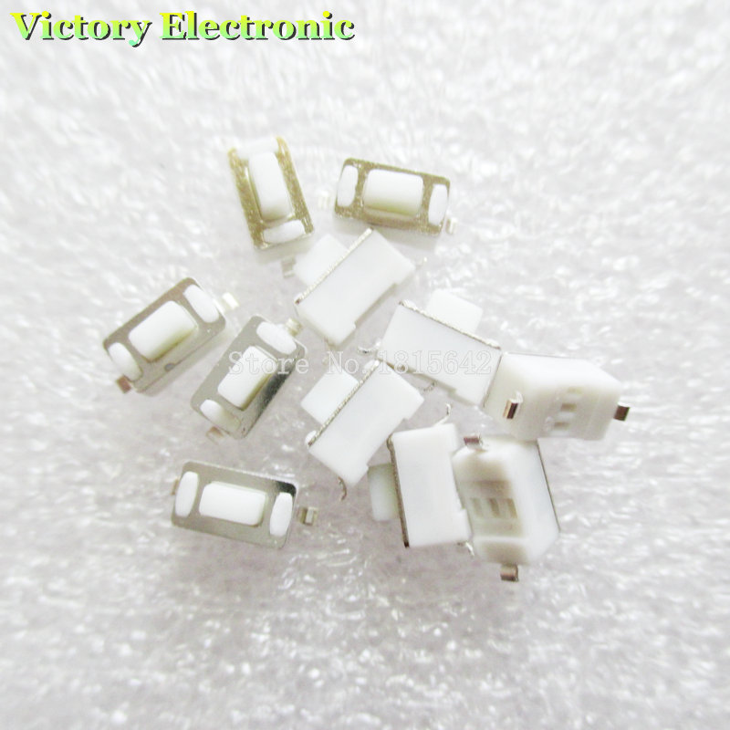Active Components 100pcs/lot 3*6*5mm 2pin Smd Tact Switch Push Button White Button Touch Micro Switch 3x6x5h Modern Techniques Integrated Circuits