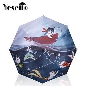 Yesello Cat Fish Printed 3 Fol