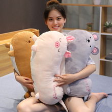 Hot New 1pc 65/85cm Simulation Animal Sausage Form High Quality Cute Plush Toy Pillow Plush Toy Soft Head Children'S Gift 1pc super cute injustice cat plush toy staffed plush pillow birthday gift high quality