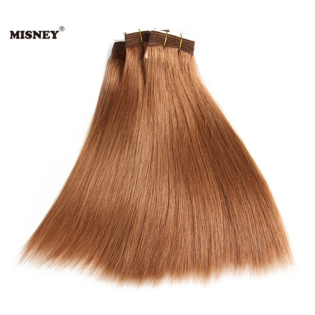 Yaki Straight Hair Extension Non Remy Human Hair Weave Bundles Light