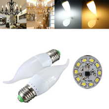 E27 3W Led Bulb White Warm White LED Candle Flame Light Chandelier Bulb AC 220V
