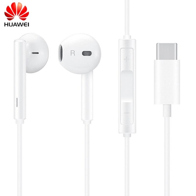 Huawei original honor usb tipo-c fones de ouvido com microfone in-ear fone de ouvido para huawei companheiro 10/companheiro 10 pro honra 9 smartphones