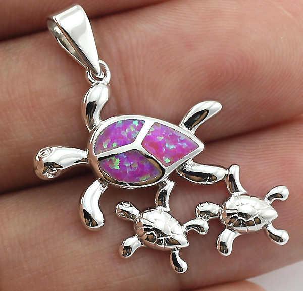 HAIMIS опт и розница Милая Черепаха Розовый огненный опал камень Pedant для женщин 1 ''OP238
