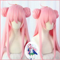 happy sugar life Matsuzaka Satou cosplay wigs 80cm long straight heat resistant synthetic hair for women girls anime wig pink