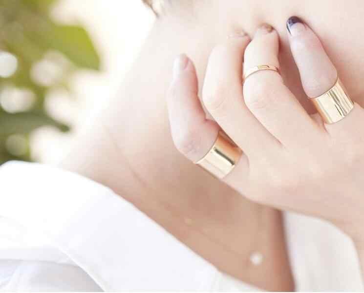 2018ใหม่ซิลเวอร์สตาร์แฟชั่นเปิดแหวนสำหรับผู้หญิงKunckleแหวนเครื่องประดับสีดำฝ้าเปิดแหวนชิ้น/ชุด