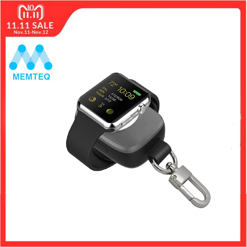 MEMTEQ Portable Wireless Charger For Apple Watch Magnetic Charging Power Bank charger for Apple Watch 38mm For Travel 10x portable magnetic 1m 3 3ft usb charging cable for i watch wireless charger 38mm