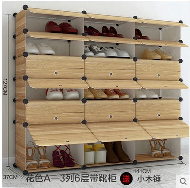 Trible 6layers Big Storage Organizer Shoe Rack Wardrobe Display Rack Storage  Box Bin DIY Magic Piece Cabinet Storage Rack In Shoe Cabinets From  Furniture On ...