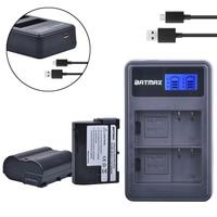 2Pcs Lot EN EL15 EN EL15 ENEL15 Camera Batteries LCD DualCharger For Nikon D600 D610 D600E